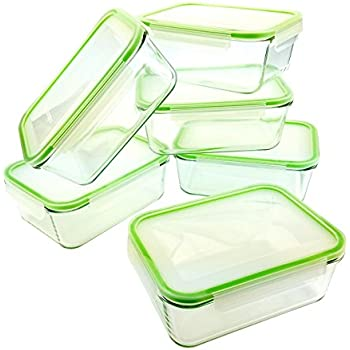 Kinetic GoGreen Glassworks 54 Oz 12Piece Rectangular Oven Safe Glass Food  Storage Container Set; 6