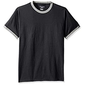 Champion Men's Classic Jersey Ringer Tee, Granite Heather/Oxford Gray Heather, L