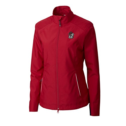 NCAA Georgia Bulldogs Adult Women CB Weathertec Beacon Full Zip Jacket, X-Small, Cardinal ()
