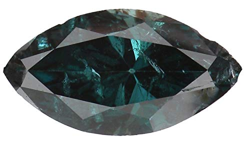 Natural Loose Diamond Marquise Blue Color SI2 Clarity 5.82 MM 0.24 Ct KR1310