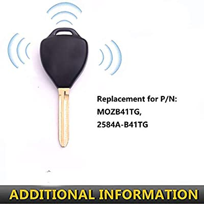 Key Fob Compatible with 2007 2008 2009 2010 2012 2013 Toyota Yaris 2005 to 2010 Scion tC (MOZB41TG, 2584A-B41TG): Automotive