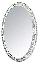 Led Crystal Oval Mirror