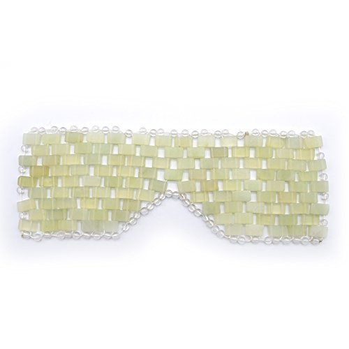 Detoxifying Therapy - Natural Jade Sleep Mask & Blindfold,Natural Jade Eye Mask,Anti-Aging Hot or Cold Therapy Eye Mask Which is Soothing Cooling Detoxifying (Xiuyan Jade)