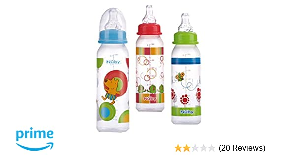 0ef8cb476cc Amazon.com  Nuby Standard Neck Tinted Bottle
