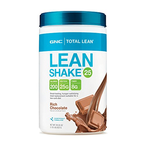 GNC Total Lean 25 Meal Replacement Shake for Weight Loss and Low-Carb Diets, Rich Chocolate, 16 Servings, Protein Powder for Weight Management Support