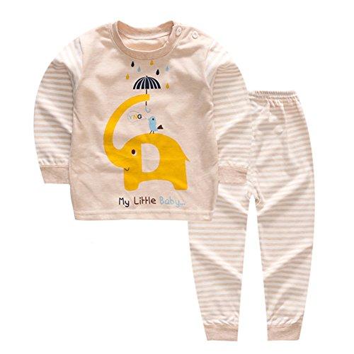 Sleeve Long Underwear Set Cotton (100% Organic Cotton Baby Boys Girls Pajamas Set Long Sleeve Sleepwear(3M-5T) (Tag60/2-3T, Pattern 5))