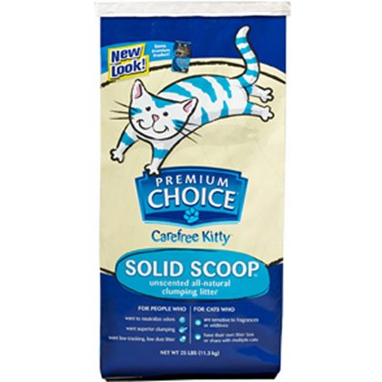 Premium Choice All Natural Unscented Scoopable Cat Litter, 4
