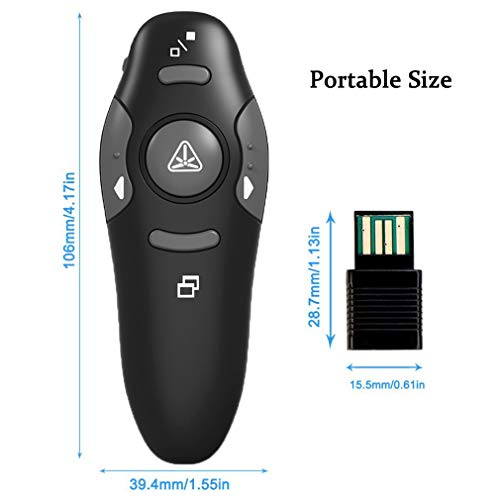 Wireless Presenter, YINXN RF 2.4GHz USB Remote Controlled PowerPoint PPT Clicker Presentation Laser Pointer by YINXN (Image #6)