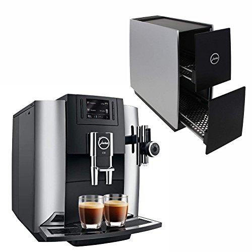 Jura 15097 Automatic Coffee Machine E8, Chrome with Jura 72229 Cup Warmer, Black