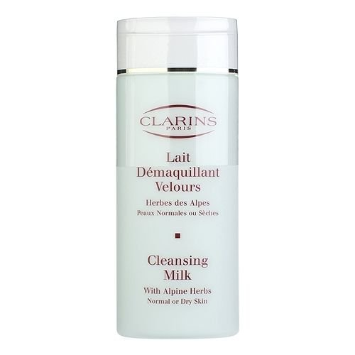 Clarins Cleansing Milk with Alpine Herbs for Normal or Dry Skin, 6.9 Ounce