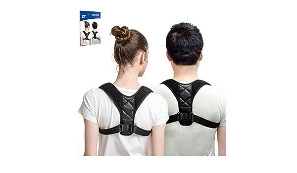 GinoTech Corrector de Postura Fisioterapia corrección de Postura y Apoyo de Postura para la Espalda Cuello Hombros Alivio del Dolor
