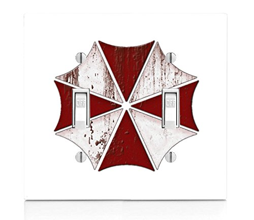 Price comparison product image MWcustoms Bloody Umbrella Corp Art Double Light Switch Plate