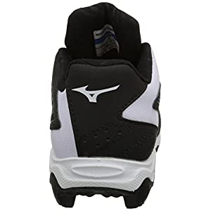 Mizuno 9 Spike ADV Yth FRHSE 8 BK-WH Youth Molded Cleat (Little Kid/Big Kid), Black/White, 4.5 M US Big Kid