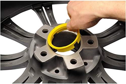 4 x anillas de centrado 72,6-66,1 para llantas de aluminio Oxigin y otros