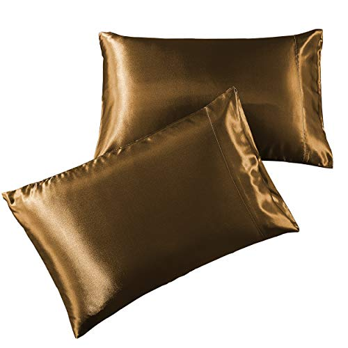 Amazon.com: Pure Linen Satin Pillowcase Queen [2-Pack