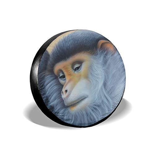 Uktly Waterproof Spare Tire Cover Monkey Bild Universal Sun Protector Dust - Proof Wheel Covers for Jeep, Trailer, RV, SUV, Truck and Other Vehicle, Fits 24