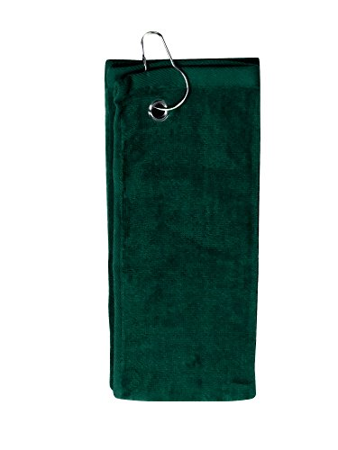 Golf Towels Wholesale - Simplicity 100% Cotton Terry Sports Golf Towel with Grommet and Hook, Green