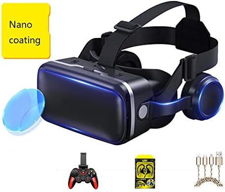 バーチャルリアリティのメガネ 3Dメガネ ヘッドマウントメガネ 視聴覚機器 に適しています 3.5-6.0インチ IOS/Android 携帯電話。,黒,Package4