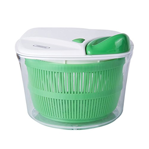 Farberware 5206684 Professional Salad Spinner with Stopper, Green