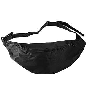 BEESCLOVER Outdoor Sport Running Hiking Bum Bag Woman Man Fanny Pack Travel Handy Waist Bag Money Belt Zip Pouch Wallet Plain 1 One Size