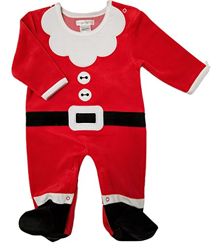 Pitter Patter Baby Clothes (Pitter Patter Santa Baby Bodysuit Footies (3-6 months))