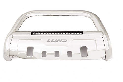 Lund 47021204 Bull Bar With Integrated Led Light Bar Polished Stainless Steel For 2009 2018 Dodge Ram 1500 Excludes Rebel 2019 Ram 1500 Classic