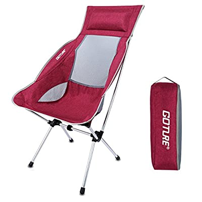 Goture Ultralight Portable Folding Backpacking Camping Chairs 1000D Oxford Fabric Chair with Carry Bag for Kayaking Fishing Hiking Picnic Beach Concerts (Hold up to 330 lbs)