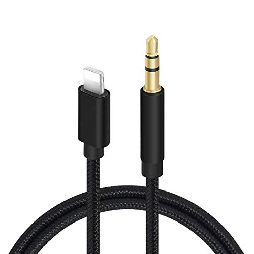 (Apple MFi Certified) iPhone to Aux Cable for Car, Aux Cord Compatible with iPhone X/Xs/Xr/8/7 Plus/iPad/iPod, 3.3ft 3.5mm Male Audio Adapter for Car Stereo, Home Speaker, Headphone (Braided Black)