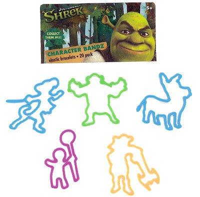 Forever Collectibles SHREK Characters Logo Bandz Bracelets
