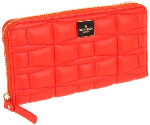 UPC 098689354606, Kate Spade New York Signature Spade Leather Lacey Wallet,Flame,One Size