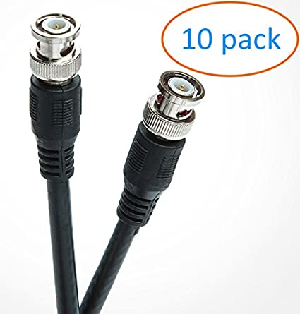 BNC Male/Male Connector RG6 Coaxial Cable | CCTV/SDI