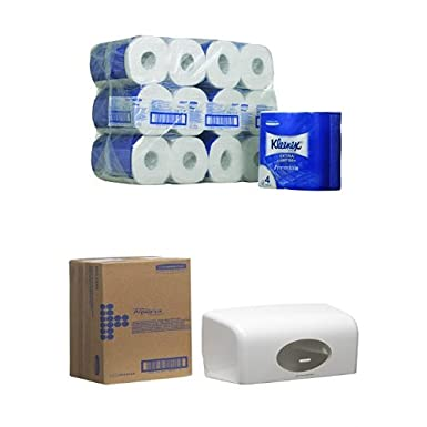 Kleenex 8484 Premium Toilet Tissue Rolls, White Quilted, Four Ply Sheets, 24 Rolls x 160 Kimberly-Clark Professional (EU)