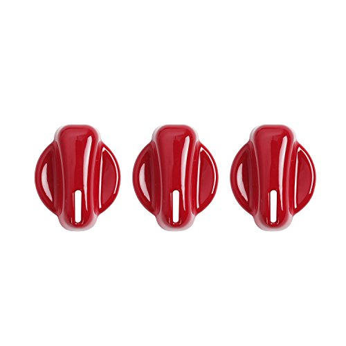 Jeep Tj Steering Box (u-Box Red Air Conditioning Switch Button Cover Trim for 1997-2006 Jeep Wrangler TJ & Unlimited -3PCS/Set)
