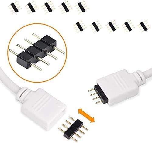 LED Strip Connector Kit for 5050 10mm 4Pin,Includes 8 Types of Solderless LED Strip Accessories,Provides Most Parts for DIY