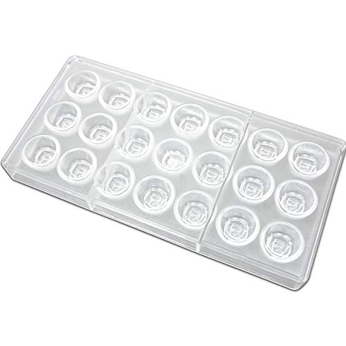 Fat Daddio's PCM-1058 Polycarbonate Blooming Rose Candy & Chocolate Mold, 11 x 5.25 Inch, Translucent