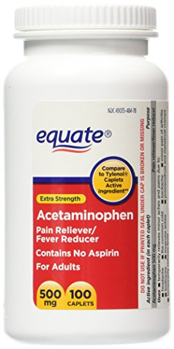 Equate Extra Strength Value Pack Acetaminophen, Pain Relieve