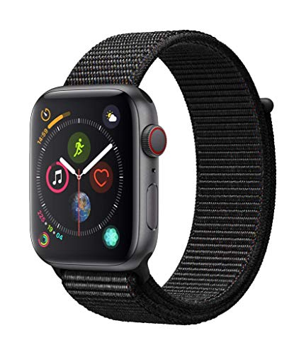 Apple Watch Series 4 (GPS + Cellular, 44mm) - Space Gray Aluminum Case with Black Sport Loop