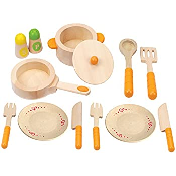 Amazon Com Hape Gourmet Play Kitchen Starter Accessories