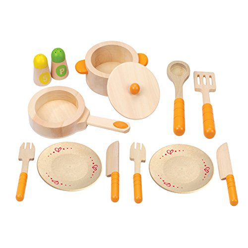 Hape Gourmet Play Kitchen Starter Accessories Wooden Play Set from Hape