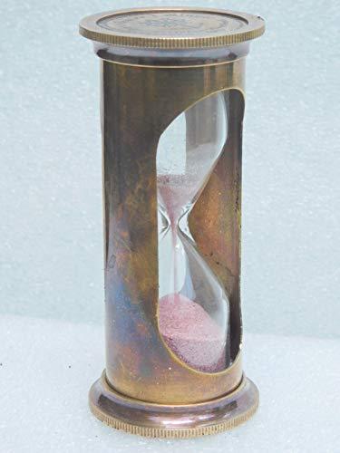 (1 min Brass Sand Timer Nautical Vintage Antique Item Replica Hour Glass Maritime Item)