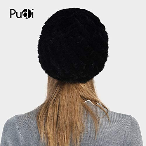 ddf6c527aed3b HF702 Women s Hats Knitted Real Mink Fur hat Cap 2017 Brand New Winter Warm