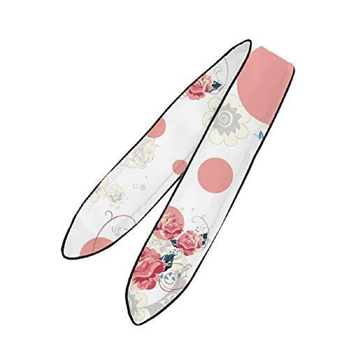 YEAHSPACE Women's Pink Rose Flower Necktie,Headdress,Fashion Accessories - Necktie Boxer