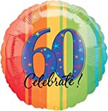 18 in. - 60th Year To Celebrate Metallic Balloon - Each