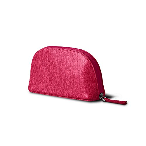 Lucrin - Makeup Bag (6.3 x 3.3 x 2.1 inches) - Fuchsia - Goat Leather by Lucrin