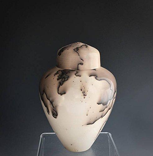 - Small Handmade Ceramic Cremation Urn, Horsehair Raku by Susan Fontaine Pottery