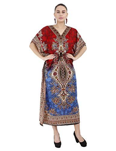 Delena Designs Women's Long Kaftan Dress Maxi Caftan Dress Gown Top Night Dress ()