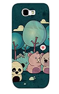 Case For Galaxy Note 2 Tpu Phone Case Cover(lonely Panda) For Thanksgiving Day's Gift