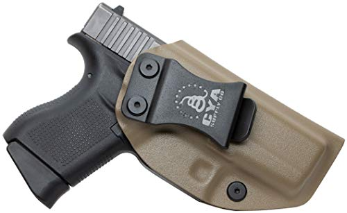 CYA Supply IWB Inside Waistband Concealed Carry Holster,  Right Hand Draw - Flat Dark Earth (Best Inside The Waistband Holster For Glock 43)