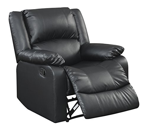 Warren Reclining Chair, Black