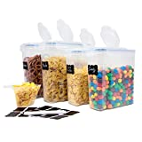 BPA Free Cereal & Dry Food Storage Container Keeper 100% Leakproof seal Lids